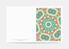 Pocztówka Retro Pokrywa z jaskrawym wzorem z kolei Obrazy Royalty Free
