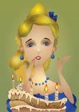 Pocztówka urodziny Zdjęcie Royalty Free
