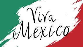 Pocztówka z Meksykańskimi symbolami ilustracja wektor