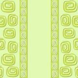 Pocztówka z zielonymi spiralami Obraz Royalty Free