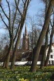 Pocztówki Bruges beguinage 8 Zdjęcie Royalty Free