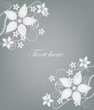 pocztówki elegancki srebro Zdjęcie Royalty Free