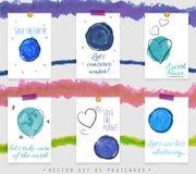 Pocztówki z planetami Fotografia Royalty Free