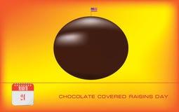 Pocztówkowa czekolada Zakrywający rodzynka dzień ilustracja wektor