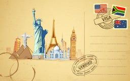 pocztówkowa podróż royalty ilustracja
