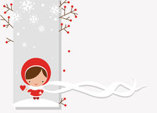 pocztówkowa zima ilustracja wektor