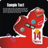 pocztówkowi valentines Zdjęcia Stock