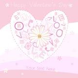 pocztówkowy dzień valentine s ilustracji