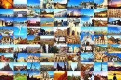Pocztówkowy kolaż Barcelona citylandmarks Zdjęcie Stock