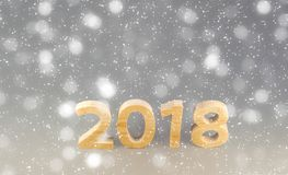 Pocztówkowy 2018 szablonu Szczęśliwy nowy rok liczby ciąć od drzewa o Zdjęcia Royalty Free