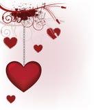 pocztówkowy valentine ilustracji