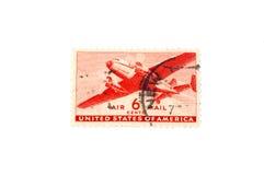 pocztą lotniczą pieczęć zdjęcie stock