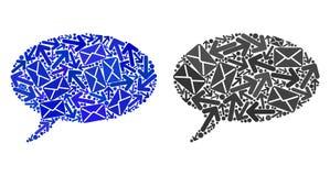 Poczt droga przemian mozaiki wiadomości Cloud1 ikony ilustracji