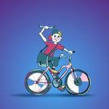 Poczta chłopiec na bicyklu Zdjęcie Stock