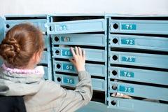 poczta dostawanie zdjęcia stock