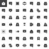 Poczta i koperty wektorowe ikony ustawiać ilustracji