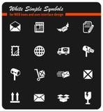 Poczta ikony usługowy set royalty ilustracja