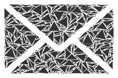 Poczta Kopertowy kolaż trójboki Zdjęcia Royalty Free