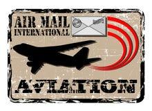 Poczta lotniczy znaczek Zdjęcia Stock