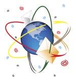 Poczta orbita ilustracji