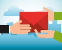 Poczta poczta usługa projekt Zdjęcie Stock