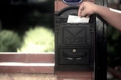 Poczta przybycia Pudełkowaty list Obraz Royalty Free