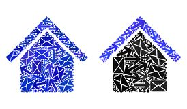 Poczta ruchu drogowego mozaiki House1 ikony royalty ilustracja