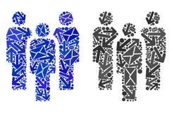 Poczta ruchu mozaiki ikon ludzie royalty ilustracja