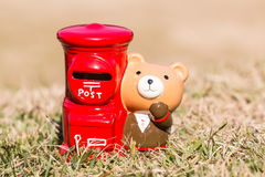 Poczta typ prosiątko banka japoński desing Obrazy Royalty Free
