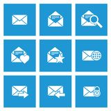 Poczta wiadomości ikony Obrazy Stock