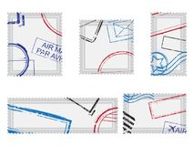 Poczta znaczki Obraz Royalty Free
