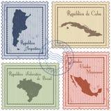 Pocztowi znaczki Fotografia Stock