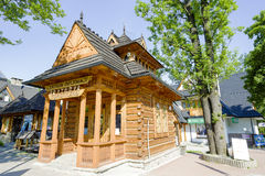 Pocztowka, piccola casa di legno in Zakopane Immagine Stock