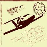 pocztowy abstrakcjonistyczny tło Fotografia Royalty Free