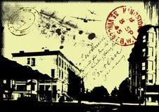 pocztowy abstrakcjonistyczny tło Zdjęcie Stock