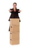 pocztowy bizneswomanu pakunek Obraz Royalty Free