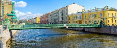 Pocztowy most w St Petersburg obraz royalty free