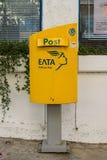 Pocztowy pudełko stanu usługi pocztowe Helleńska poczta Zdjęcia Stock