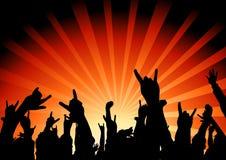 poczuj muzykę publiczność. ilustracji