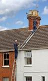 Podążać burzę dachowe naprawy Zdjęcie Stock