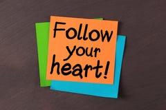 podążać serce twój Zdjęcia Royalty Free