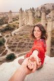 Podąża ja kochać dolinnego jar w Cappadocia podróż, Turcja zdjęcia stock