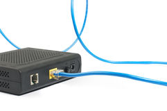 podłączeniowy modem zdjęcia stock