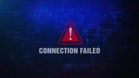Podłączeniowy Nieudany Raźny Ostrzegawczy błąd wiadomości mruganie na ekranie ilustracji