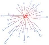 Podłączeniowy system Red Eye Zdjęcia Stock