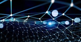 Podłączeniowy technologii tło obraz stock