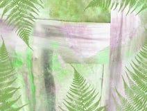 Podławy abstrakcjonistyczny tropikalny tło z egzotów drzewami i roślinami Zdjęcia Royalty Free