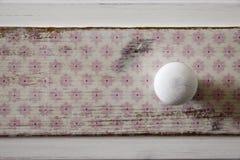 Podławy modny biały guzik Zdjęcia Stock