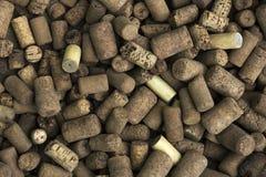 Podławy stary korkowy wino stoppers tło Obraz Royalty Free