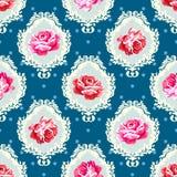 Podławy szyk róży adamaszka wzór Obrazy Stock